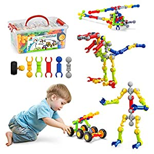 Stem Activities for Kids,Dlordy 125 Pcs Building Blocks for Kids Educational Construction Set Engineering DIY Learning…