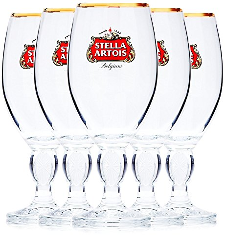 Stella Artois 5-Pack Original Beer Glass Chalice, 33cl