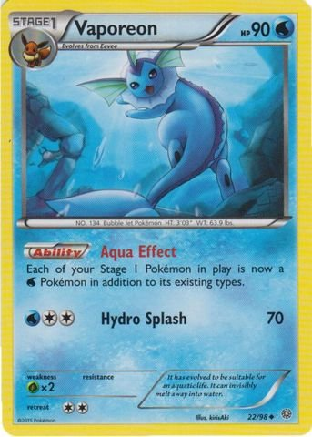 - Pokemon - Vaporeon (22/98) - Ancient Origins