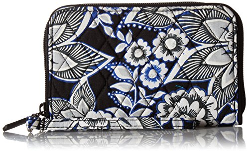 Vera Bradley Rfid Grab and Go Wristlet, Snow Lotus (Coin Lotus)