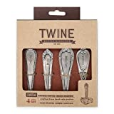 Twine Chateau Antique Pewter Cheese Marker, Metallic