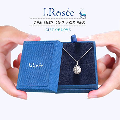 J.Rosée The Tree of Love Fashion 925 Sterling Silver 10mm White Simulated Shell Pearl Pendant Necklace Jewelry Gifts by J.Rosée (Image #5)