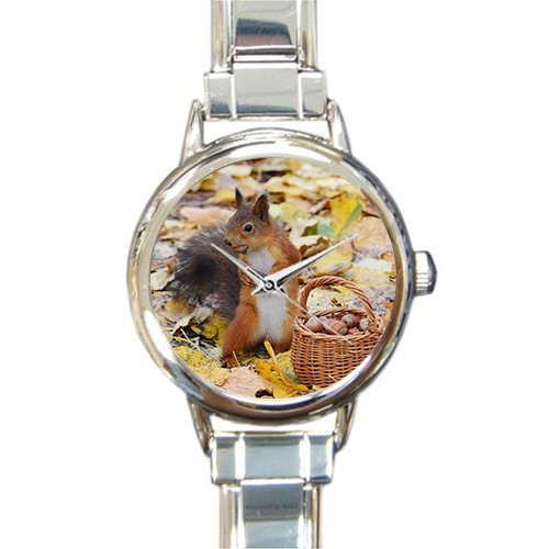 Friends/Sisters Birthday Gifts Presents Cute Squirrel With Chestnuts Women's Italian Charm Watch