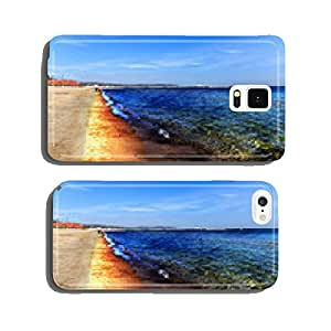 Oil Spill on Beach - Image is an artistic digital rendering. cell phone cover case Samsung S6