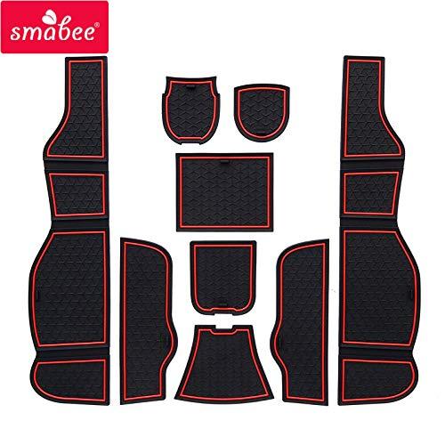 SMABEE car Gate Slot mats for Mercedes Benz CLA C117 W117 2014-2018 180 200 220 250 AMG Interior Accessories Door Groove Mat