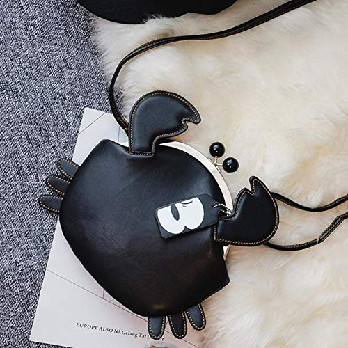 Negro La Estuche Lindo 7 23cm Black Forme Bolsa 16 De Rojo Pu Cangrejo Mensajero TnPqaHB
