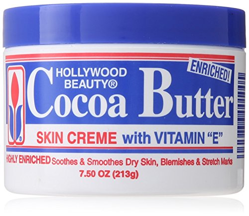 Hollywood Beauty Cream, Cocoa Butter, 7.5 Ounce - Cocoa Butter Skin Cream