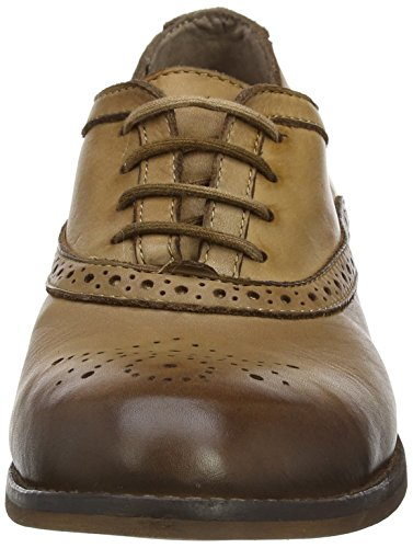 Tan London Marrone Basse Scarpe Fly Stringate Antique Donna Brogue 002 Eile943fly pwnwxTU4
