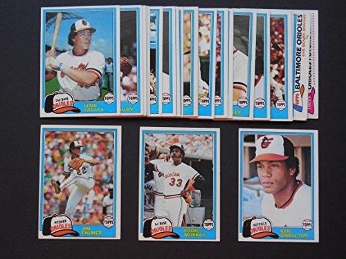 - Baltimore Orioles 1981 Topps Baseball Team Set with year end High Numbers (27 Cards)***(And Receive a Free Brooks Robinson 1957 Rookie REPRINT Card)** (Eddie Murray) (Jim Palmer) (Ken Singleton) (Mike Flanagan) (Scott McGregor) (Tippy Martinez) (Doug DeCinces) (Sammy Stewart) (Lenn Sakata) (Rich Dauer) (Denny Martinez) (Mike Boddicker Rookie) (Al Bumbry) (Steve Stone) (Rick Dempsey) (Mark Balanger) and More