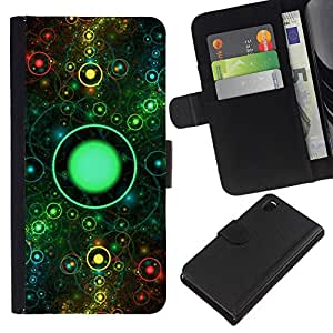 All Phone Most Case / Oferta Especial Cáscara Funda de cuero Monedero Cubierta de proteccion Caso / Wallet Case for Sony Xperia Z3 D6603 // On Eye Universe Ring Space Abstract