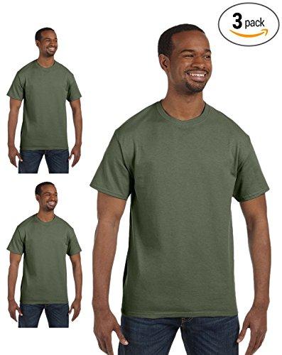 (Gildan mens Heavy Cotton 5.3 oz. T-Shirt(G500)-MAROON-M-3PK)