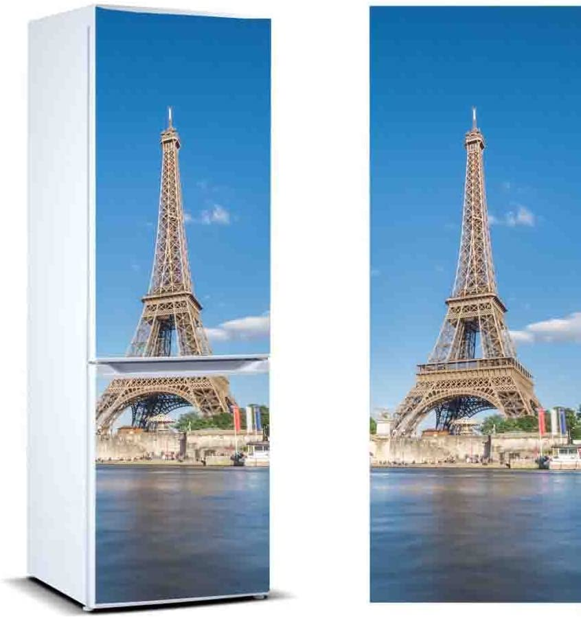 Varias Medidas 185x60cm Pegatina Adhesiva Decorativa de Dise/ño Elegante Adhesivo Resistente y de F/ácil Aplicaci/ón Pegatinas Vinilo para Frigor/Ífico Torre Eiffel