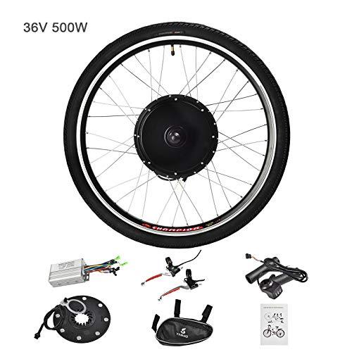 Murtisol Electric E-Bike Motor Kit 26'' Front Wheel/Rear Wheel 36V 500W/48V 1000W Bicycle Motor Conversion Kit (36V 500W Rear Wheel) (Electric Bicycle Parts)
