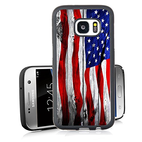 Banner Cover (S7 Case Samsung Galaxy S7 Black Cover TPU Rubber Gel - Banner on wooden)