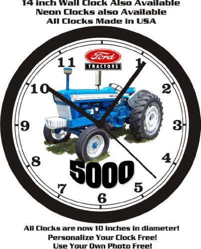 (FORD 5000 TRACTOR WALL CLOCK-FREE USA)