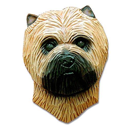 (Carin Terrier Head Plaque Figurine Wheaten)