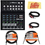 Mackie Mix8 8-Channel Compact Mixer Bundle with XLR Cable,...