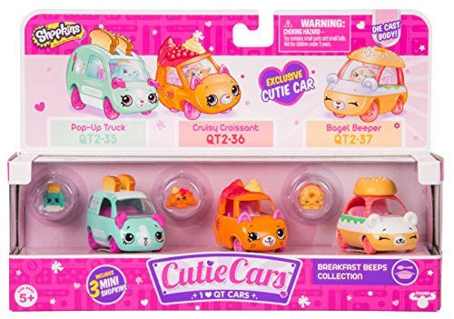 Breakfast Collection (Shopkins Cutie Cars Three Pack - Breakfast Beeps Collection)