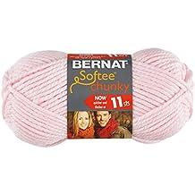 Bernat Softee Chunky Yarn, Baby Pink, Single Ball