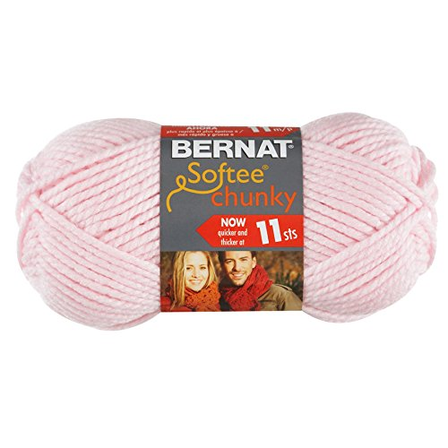 Bernat Softee Chunky Yarn, Baby Pink, Single Ball - Bernat Pink Knitting Yarn