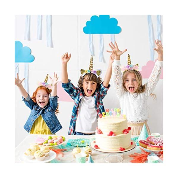 USA Toyz Unicorn Headband Party Favors - 6pk Unicorn Party Supplies, Unicorn Horn Headbands for Girls and Boys 4
