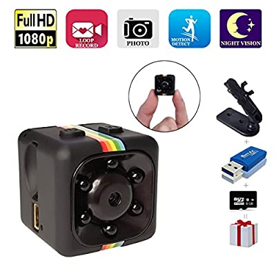Spy Camera, Papakoyal Hidden Camera Mini Camera HD 1080P/720P Spy Cam Wireless Small Portable Night Vision Motion Detection for Home, Car, Drone, Office with 8GB Card & Card Reader by Papakoyal Direct