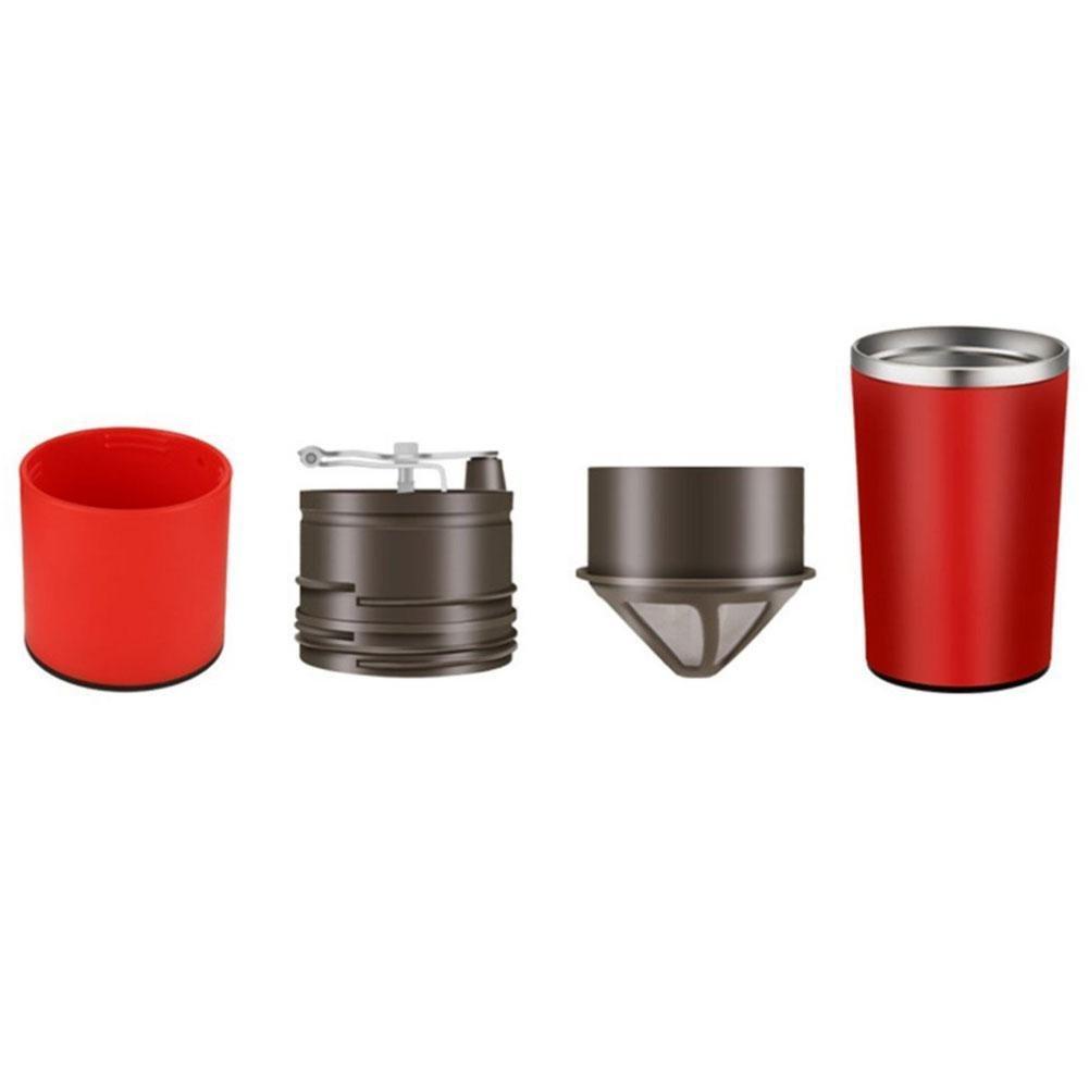 BleuMoo Manual Coffee Maker Hand Pressure Portable Espresso Machine Coffee Pressing Bottle (Red) by BleuMoo (Image #5)