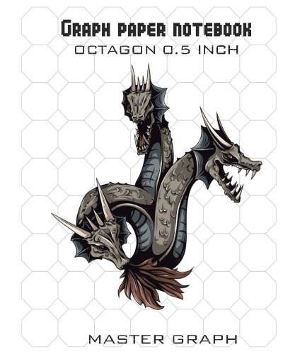 Graph Paper Notebook: 100 Pages Octagon 1 Inch: Master Graph ...