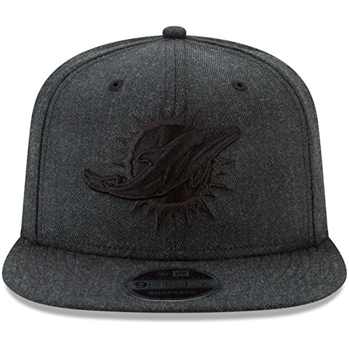 New Era NFL Miami Dolphins Total Tone 9Fifty of Snapback Cap, One Size, Black ()