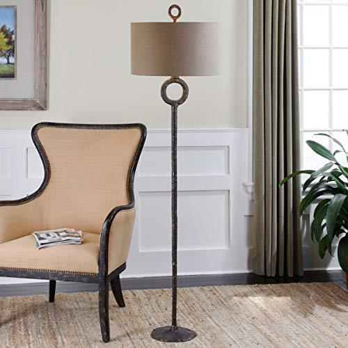 Uttermost 28633 Ferro Cast Iron Floor Lamp, Brown ()