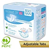 EGOSAN Maxi Incontinence Disposable Adult Diaper Brief Maximum Absorbency and Adjustable Tabs for Men and Women (Medium 15-Count)