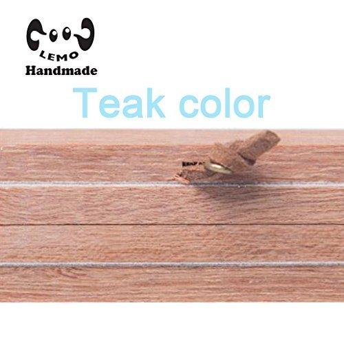Magnetic Poster Frame Hanger - Oak Wood Artwork Print Holder Canvas Quilt Wooden Hanging HD07 (Teak color) by Lemo
