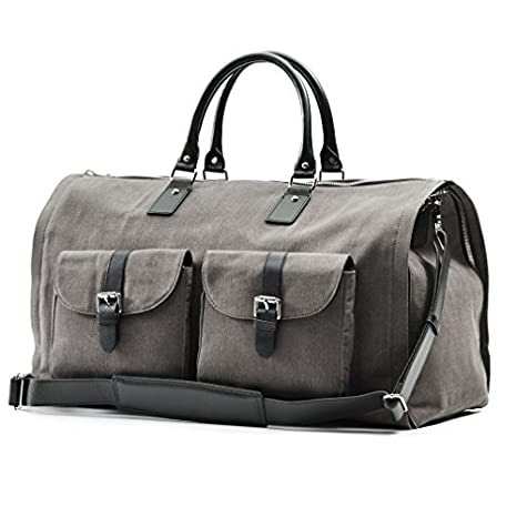 Waxed Canvas Garment Weekender Bag
