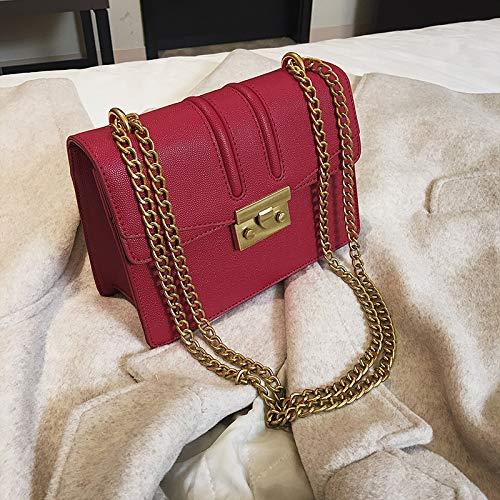 Messenger Xmy Bandoulière Mode Petit Sauvage À Sac Chaîne Carré Rouge Femelle Simple g7qgI