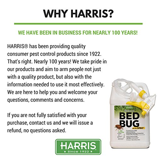 Harris Natural Bed Bug Killer, Fast Acting Non-Toxic Spray with Extended Residual (Gallon) by Harris (Image #1)