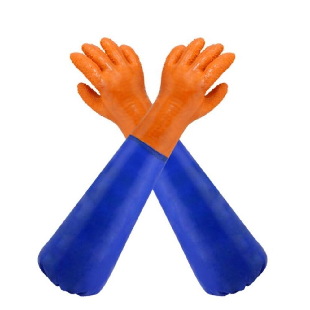 TT Fangen Fisch Handschuhe Partikel Anti Slip Wear widerstehen und Öl resistenten Säure Alkali Handschuhe