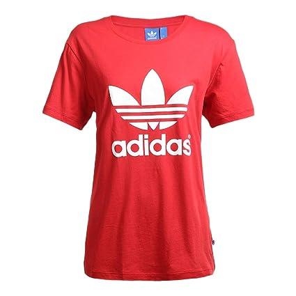 Adidas Boyfriend Trefoil Camiseta de Manga Corta para Mujer, Mujer, T-Shirt Boyfriend