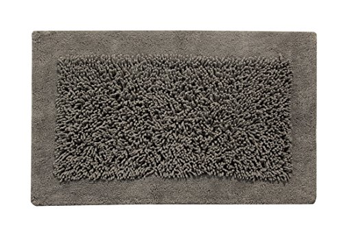 Saffron Fabs Long Saffron FabsLong Noodle Loops Pattern, Hand Tufted Heavy 200 GSF Weight, Spot Clean, Rectangular Shape, and Absorbent, Super Soft and Plush, Lima Size 36x24 Inch Gray Color