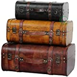 Vintiquewise(TM 3-Colored Vintage Style Luggage Suitcase/Trunk, Set of 3
