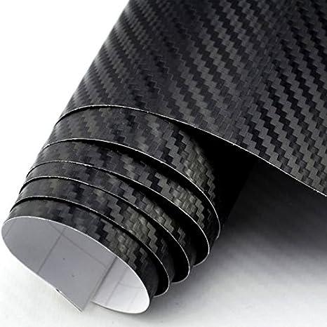 3D Carbon Folie schwarz BLASENFREI 3m x 1,52m mit Luftkanäle ...