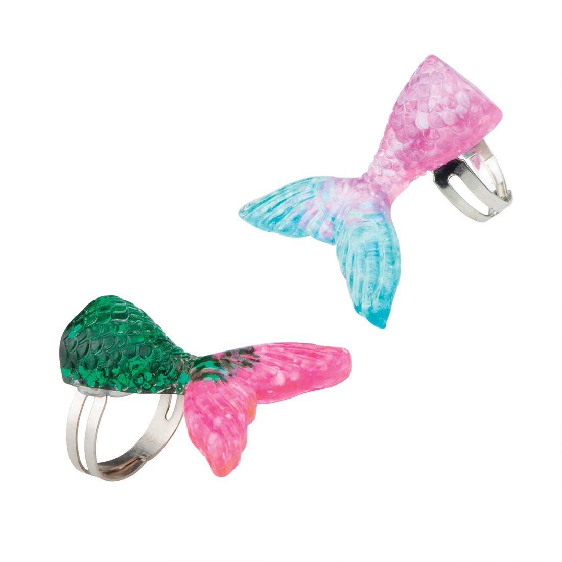 Mermaid Glitter Rings - Prizes and Giveaways - 36 per Pack