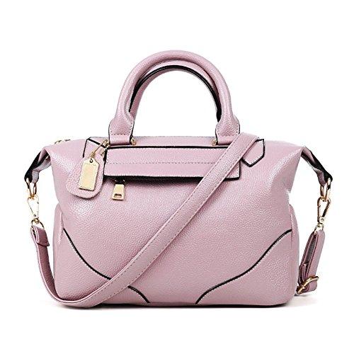 Kssia Hb990024c4 Fashion Pu Leather European And American Style Women's Handbag Pillow Type Boston Bag