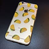 iPhone 6 Case, DECO FAIRY Protective Case Bumper[Scratch-Resistant] [Perfect Fit] Ultra Slim Translucent Silicone Clear Case Gel Cover for Apple iPhone 6 (tacos overload)