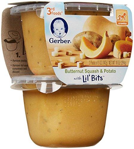 Gerber 3rd Foods Lil' Bits Purees - Butternut Squash & Potat