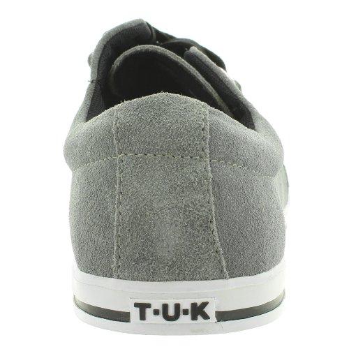 T.U.K. - Caña baja de cuero hombre gris - gris