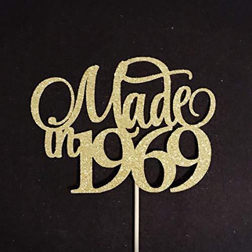Amazon Made In 1969 Cake Topper 50th Birthday Anniversary 50 Handmade