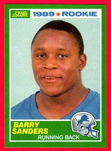 Barry Sanders 1989 Score Football Rookie Reprint Card (Lions)