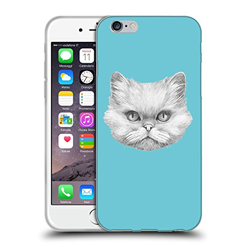 GoGoMobile Coque de Protection TPU Silicone Case pour // Q05330627 chat persan Cyan // Apple iPhone 6 4.7""