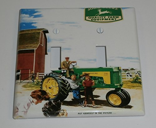 (John Deere Tractor Double Toggle Light Switch Plate Cover)