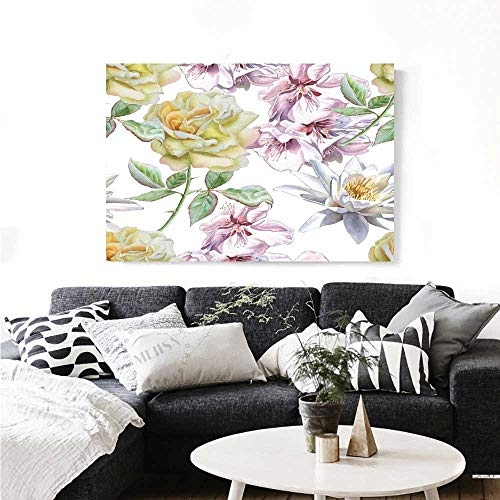 Floral The Picture for Home Decoration Rose Petals Sakura Lily Flowers Blooms Romance Florets Design Customizable Wall Stickers 28